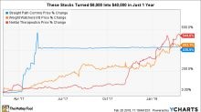 These Stocks Turned $8,000 Into $40,000 in Just 1 Year