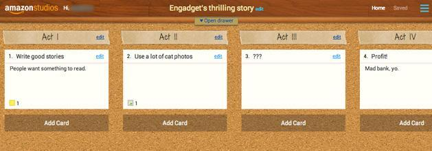 Amazon Storybuilder beta puts your screenplay ideas in the cloud