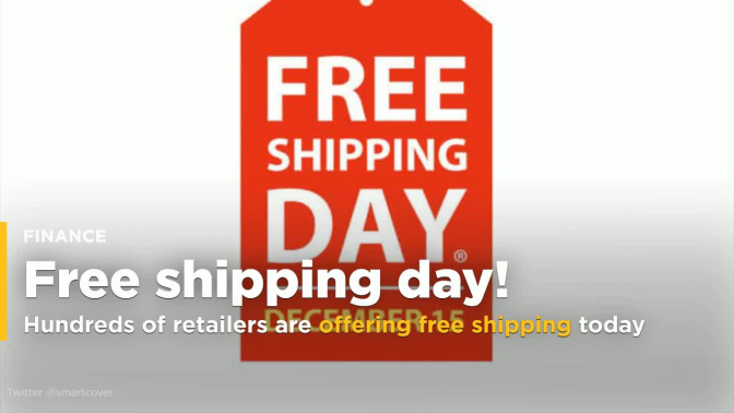 Hundreds of retailers are offering free shipping today