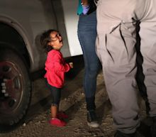 Father of Honduran girl whose devastated face shocked America says she is with her mother in Texas