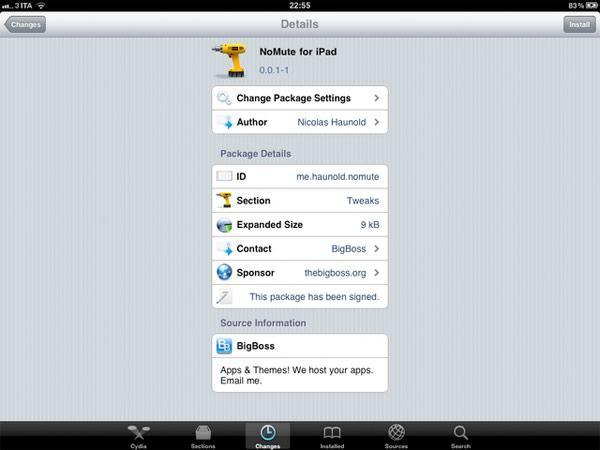 NoMute reclaims iPad orientation lock in iOS 4.2, but only if you jailbreak