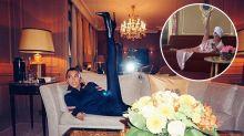 Kourtney Kardashian and Victoria Beckham are leg-up Twitter twins