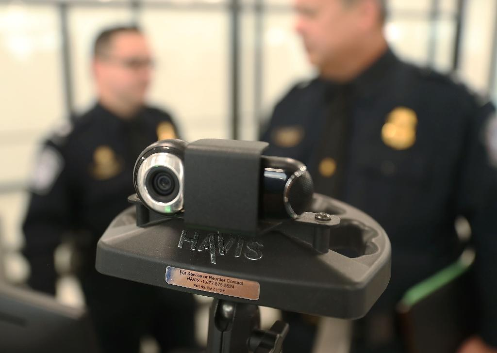A camera used for facial recognition is seen this year at Miami International Airport, where border agents screen travelers entering the United States to determine if they are using their real passports
