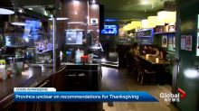 Ontario government unclear on recommendations for Thanksgiving