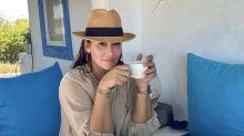 Vicky Martín Berrocal: vacaciones en una casa de paja de lujo