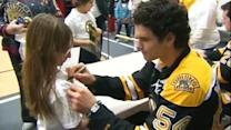 Boston Bruins visit Sandy Hook children