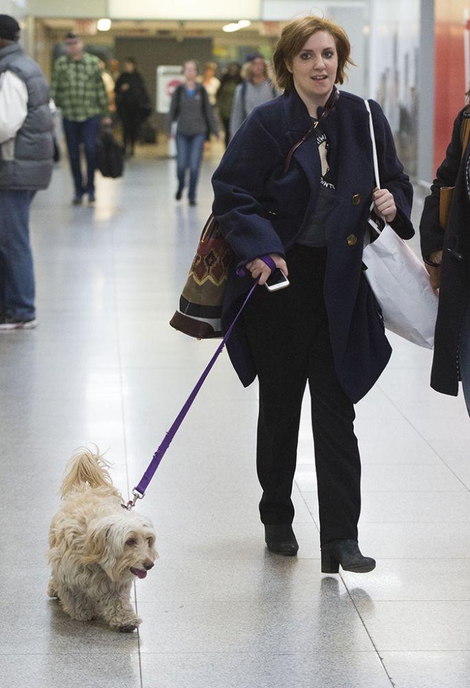 Lena Dunham with Lamby.