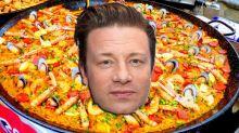 Jamie Oliver panned over 'unorthodox' paella recipe