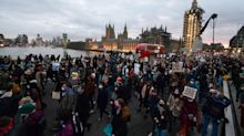 In pictures: Sarah Everard protesters demonstrate on Westminster Bridge and outside Parliament