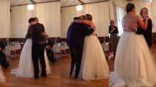 Perdió a su padre por el cáncer pero estuvo muy presente en su boda