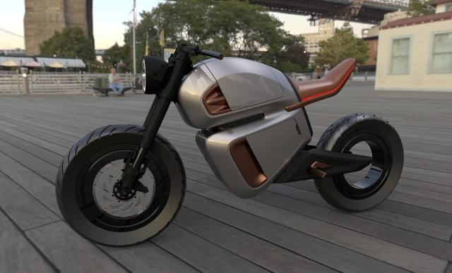 Nawa's stylish e-motorbike uses an ultracapacitor to drastically boost range