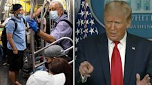 Trump hits out at journalist over coronavirus question