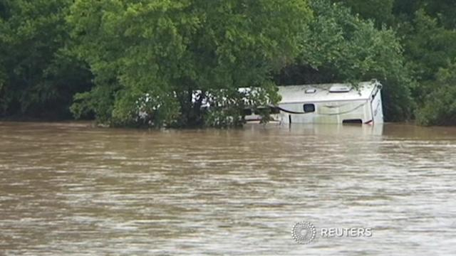 Flooding in south Austin, Texas, after torrential rains