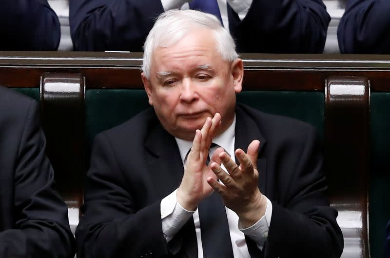 Poland's Kaczynski could join government as coalition teeters