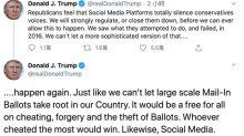 不滿推特加註警示標籤 川普威脅監管社群媒體甚至關閉回擊