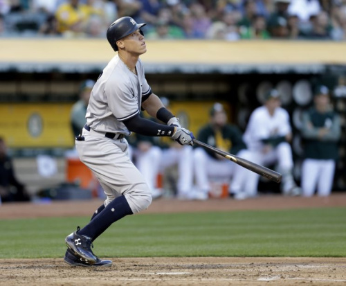 Will Aaron Judge be watching the balls fly out of Marlins Park at the Home Run Derby? (AP)