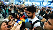 Diego Costa admits he didn't leave Chelsea the way he wanted as he arrives to complete Atletico Madrid move