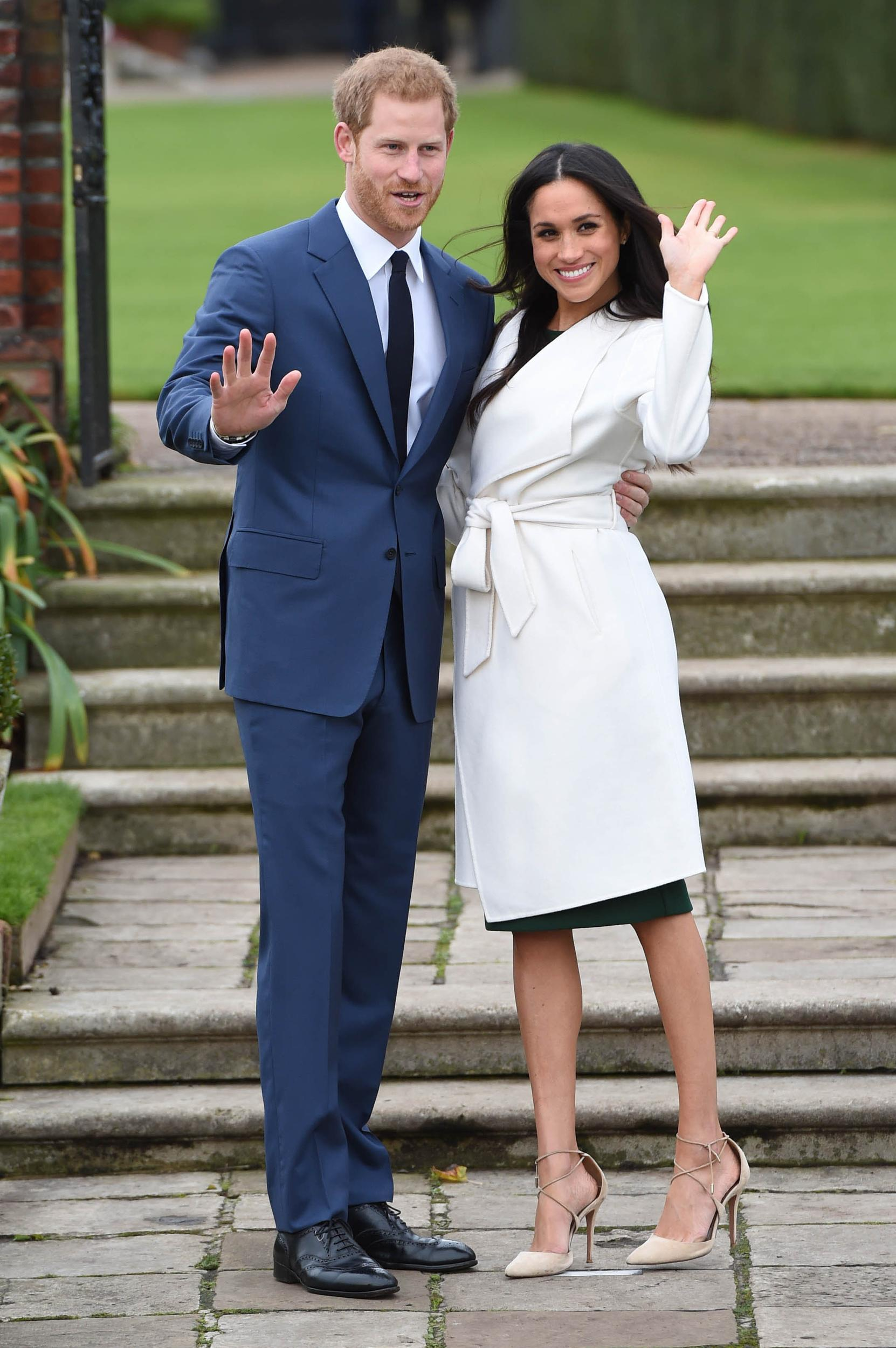 Prince Harry and Meghan Markle wedding date announced as May 19, 2018.   File Photo by: KGC-375/STAR MAX/IPx 2017 11/27/17 Prince Harry and Meghan Markle during an official photocall to announce the engagement of Prince Harry and actress Meghan Markle at The Sunken Gardens at Kensington Palace on November 27, 2017 in London, England.  His Royal Highness Prince Harry Of Wales and Ms. Meghan Markle are engaged to be married.  The wedding will take place in Spring 2018.  The couple became engaged in London earlier this month.  Prince Harry informed The Queen and other close members of his family and also sought and received the blessing of Ms. Markle's parents. (London, England, UK)