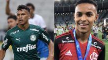 Atacantes, Gabriel Veron e Lázaro se reencontram após parceria na Sub-17