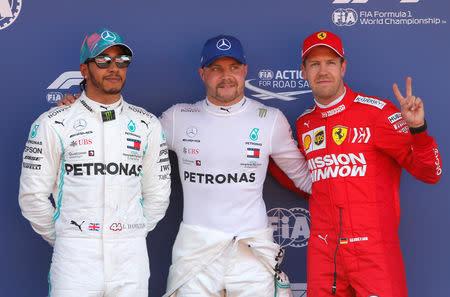 Image result for Lewis Hamilton beats Valtteri Bottas TP Pole position
