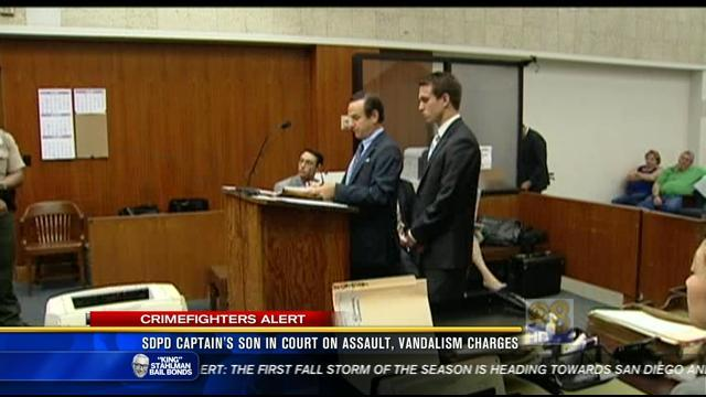 SDPD captain's son in court on assault, vandalism charges