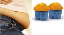 肚腩肥肉=muffin top? 日本網民圖片解說