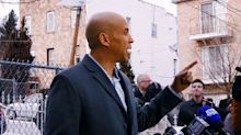 On home turf, Cory Booker defends his record and urges rivals to 'bring it'