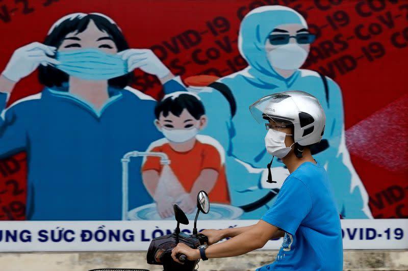FILE PHOTO: Measures to avoid the spread of the coronavirus disease (COVID-19) in Hanoi