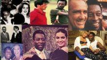 Pelé além do futebol: foto para Andy Wahrol, festa de Brooke Shields, filmes com Stallone e Trapalhões, Brunet, Xuxa e mais