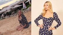 Adele hits the beach in $380 Reformation mini dress