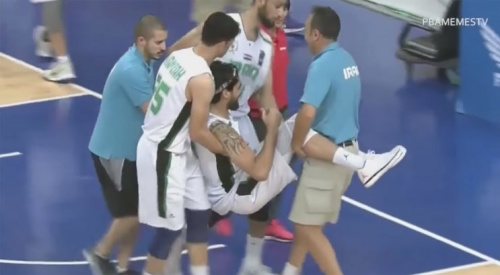 This is not the ideal aftermath of defending a crossover. (Screencap via PBAMemesTV)