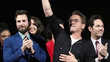 'Avengers: Endgame' premiere: Chris Evans and Robert Downey Jr. get choked up onstage