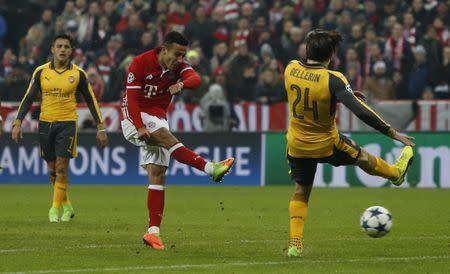 Bayern Munich's Thiago Alcantara scores their fourth goal