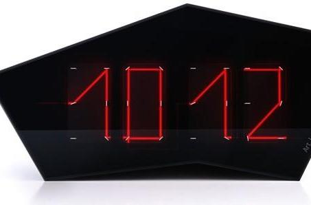 Art Lebedev's Reflectius clock tells time with a single laser beam