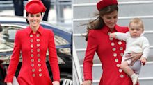 Kate reminds fans of sweet memory with George in red Catherine Walker coat for Commonwealth Day