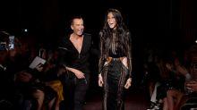 Vitiligo model Winnie Harlow walks in Julien Macdonald's diverse London Fashion Week show