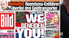 Top-selling German newspaper says 'We envy you!' to UK after success of vaccine rollout