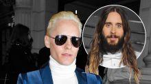 Jared Leto Cut Off His Hair & Went Platinum, Stealing Kim Kardashian's Thunder