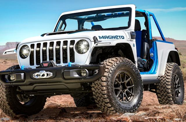Jeep's all-electric Wrangler concept has a six-speed manual transmission