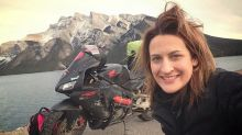 Woman embarks on solo round-the-world motorbike ride after ex-boyfriend told her it was 'too dangerous'