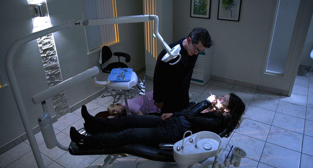 Sarah in a dentist's chair