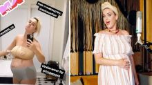 Katy Perry shared a picture in her nursing underwear