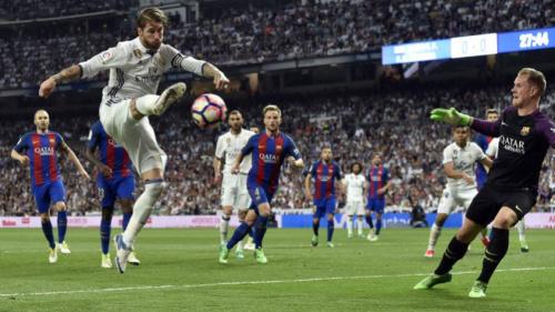 Sergio Ramos pega um jogo de suspensão por carrinho em Messi