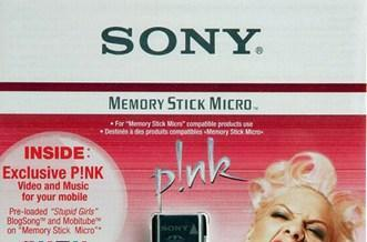 Sony unveils black P!nk-branded MS-A512A M2 memory card
