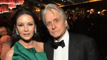 Catherine Zeta Jones and Michael Douglas pose with four generations for major family reunion