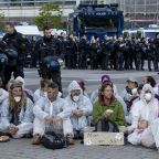 Activists block main entrance to Frankfurt auto show