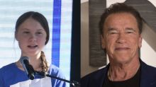 """Arnold Schwarzenegger disfruta de un paseo en bicicleta con su """"amiga y heroína"""" Greta Thunberg"""