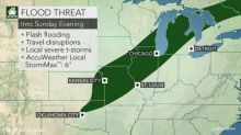 Heavy rain, locally severe storms to soak the central US through Sunday night