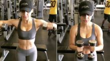 Francia Raisa shows off surgical scars in intense gym video