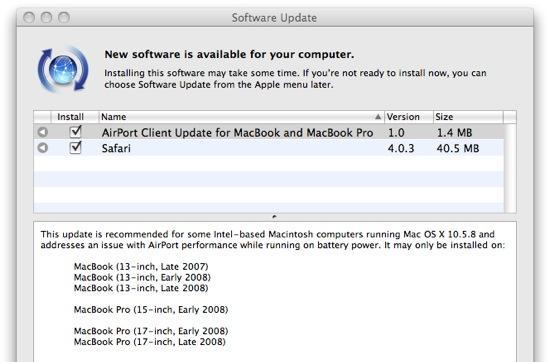 Apple issues patch to speed up Airport after troublesome 10.5.8 update